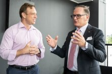 Queensland Deputy Premier Steven Miles with Aspen Medical Founder and Executive Chairman Glenn Keys AO